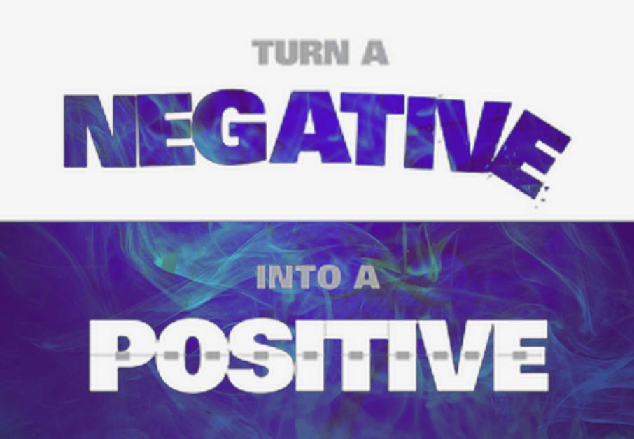 negative into positive